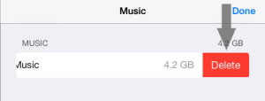 Remove Music Library iOS 7