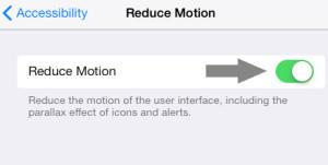 Disable Parallax iOS 7